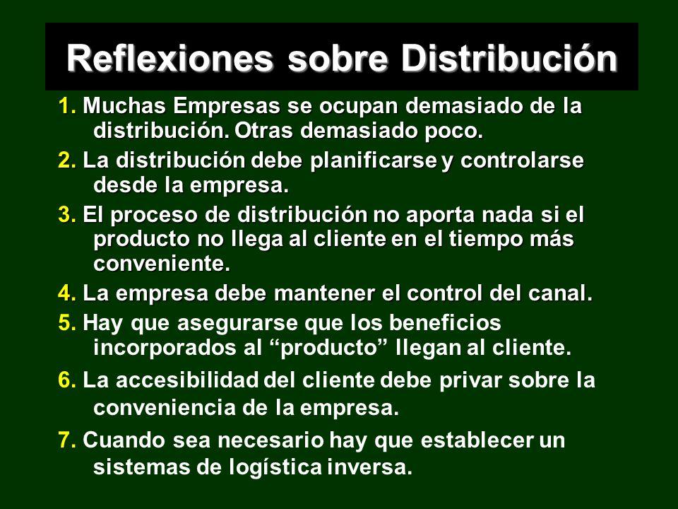 Reflexiones sobre Distribución