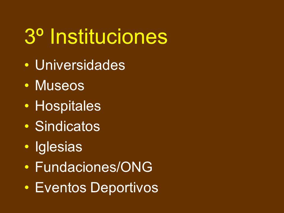 3º Instituciones Universidades Museos Hospitales Sindicatos Iglesias