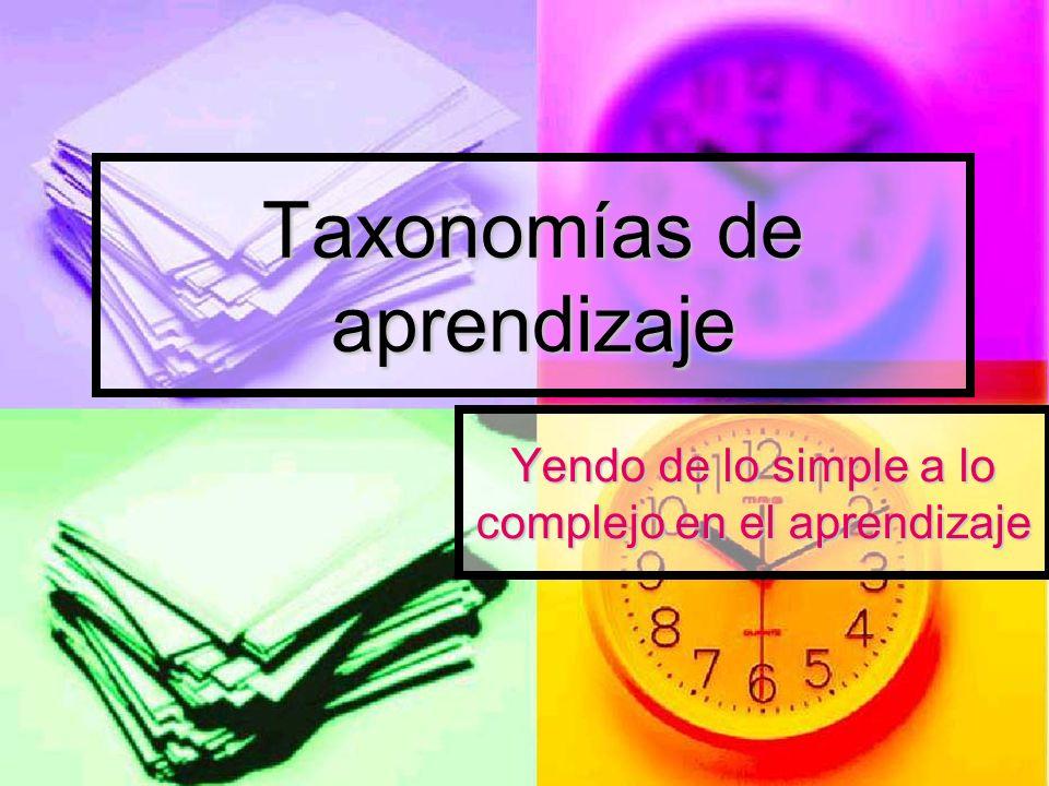 Taxonomías de aprendizaje