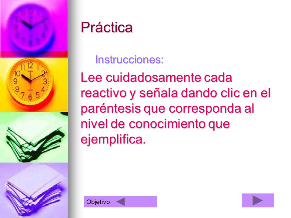 Práctica Instrucciones: