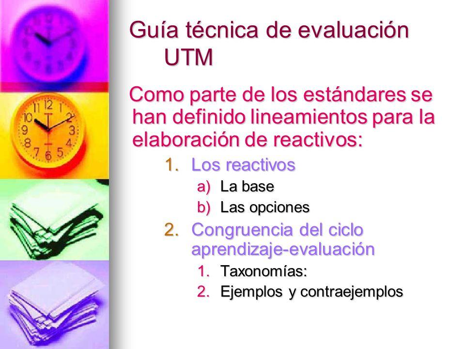 Guía técnica de evaluación UTM