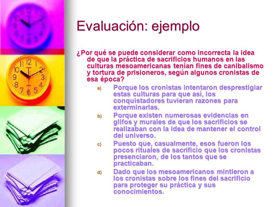 Evaluación: ejemplo