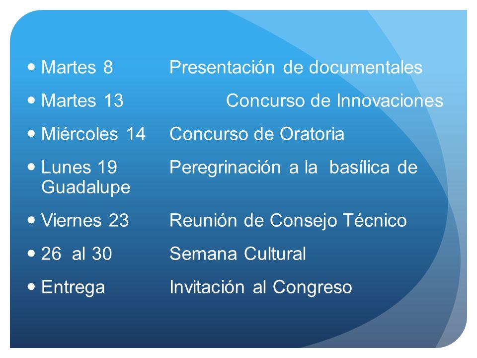 Martes 8 Presentación de documentales