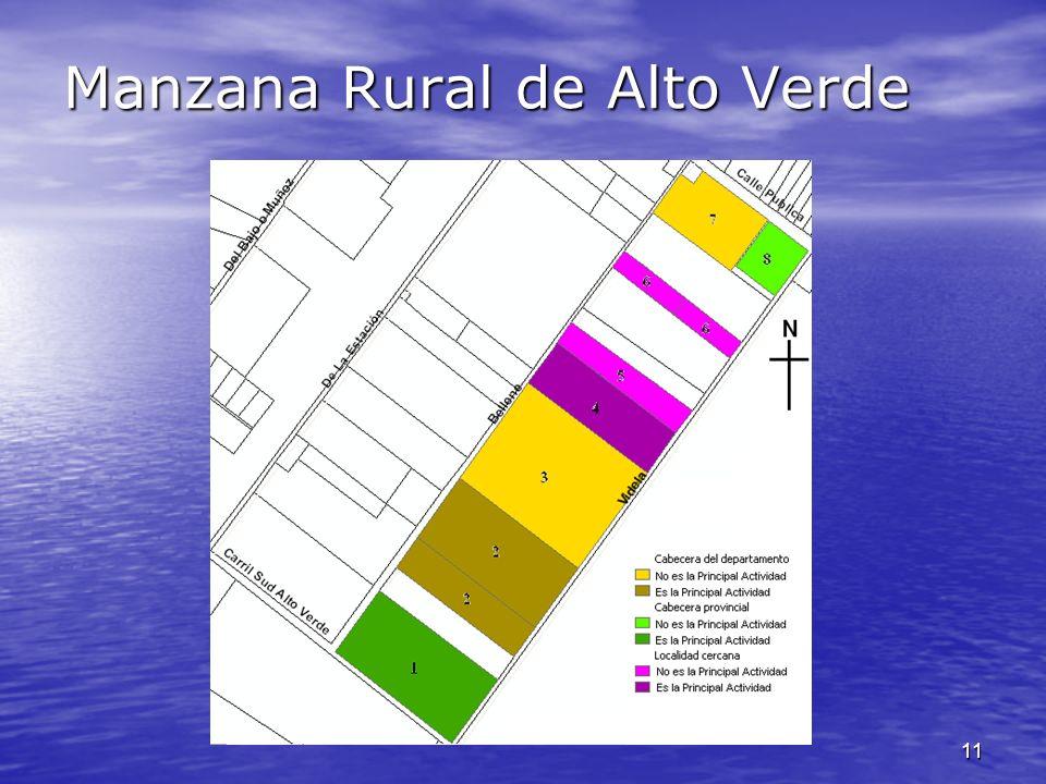 Manzana Rural de Alto Verde