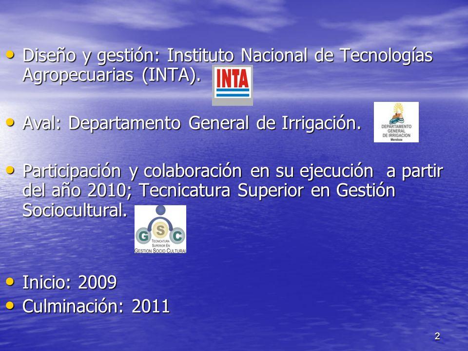 Diseño y gestión: Instituto Nacional de Tecnologías Agropecuarias (INTA).