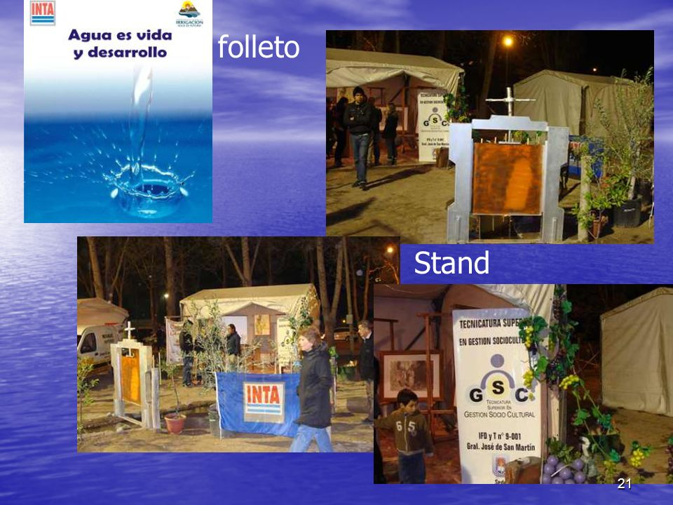 folleto Stand