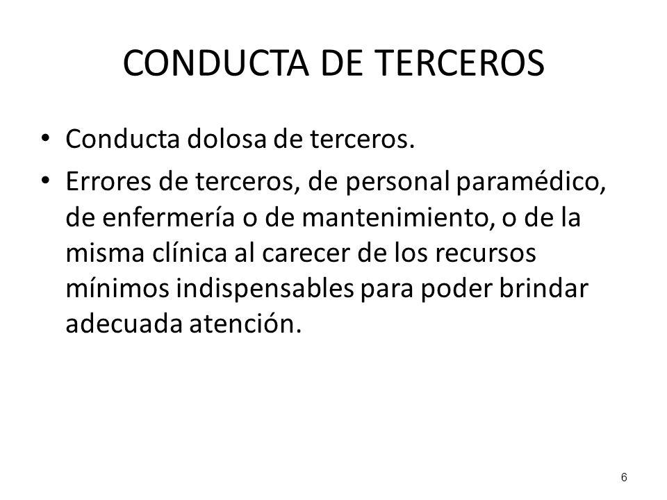 CONDUCTA DE TERCEROS Conducta dolosa de terceros.