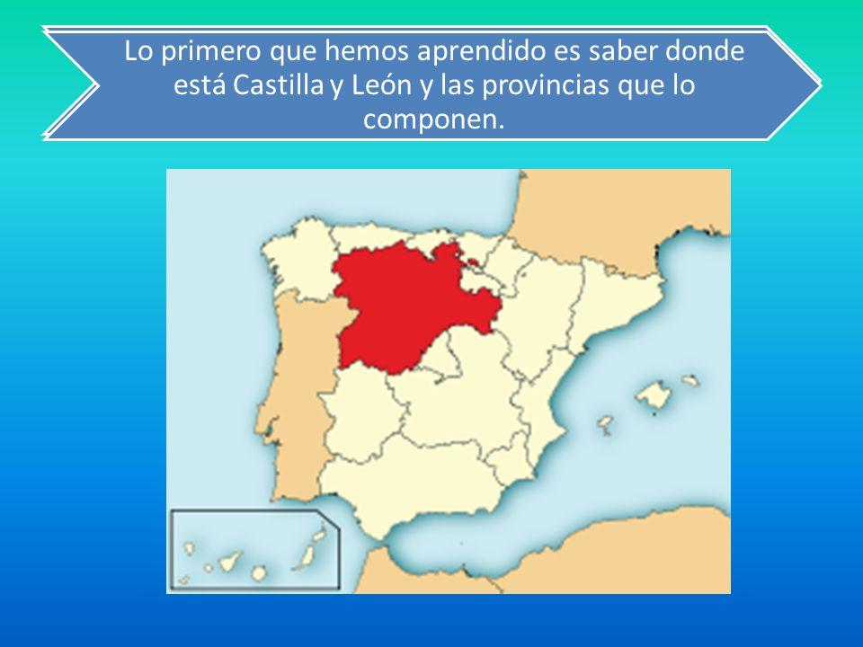 Lo primero que hemos aprendido es saber donde está Castilla y León y las provincias que lo componen.