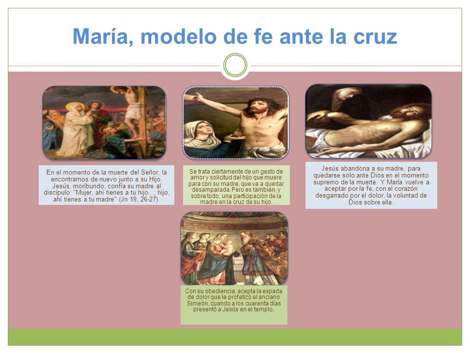 María, modelo de fe ante la cruz
