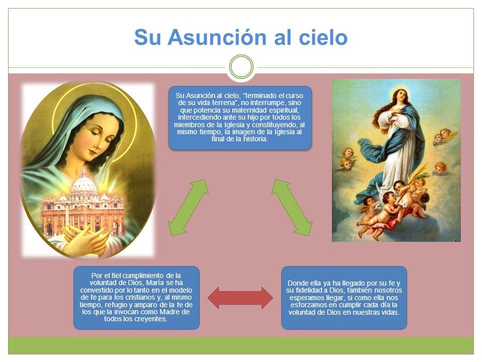 Su Asunción al cielo