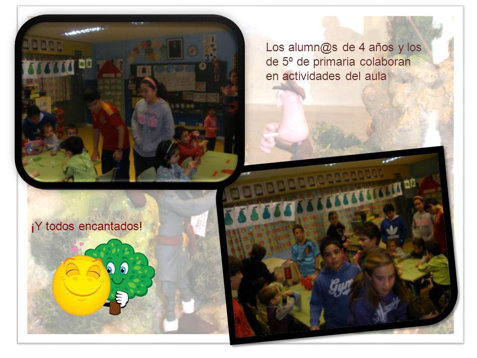 Los alumn@s de 4 años y los de 5º de primaria colaboran en actividades del aula