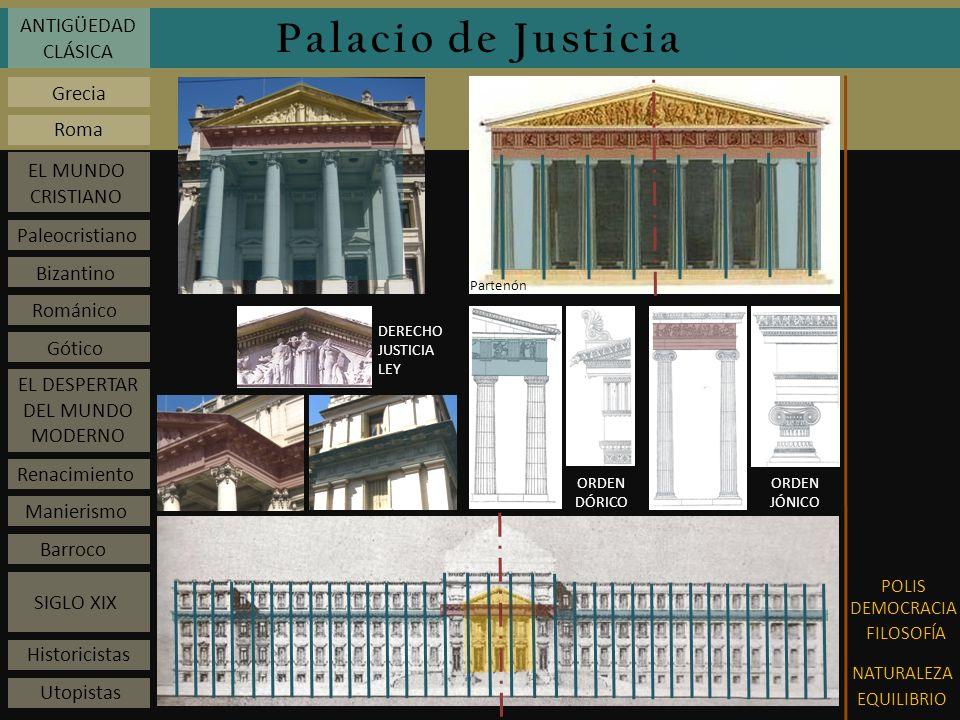 Palacio de Justicia ANTIGÜEDAD CLÁSICA Grecia Roma EL MUNDO CRISTIANO