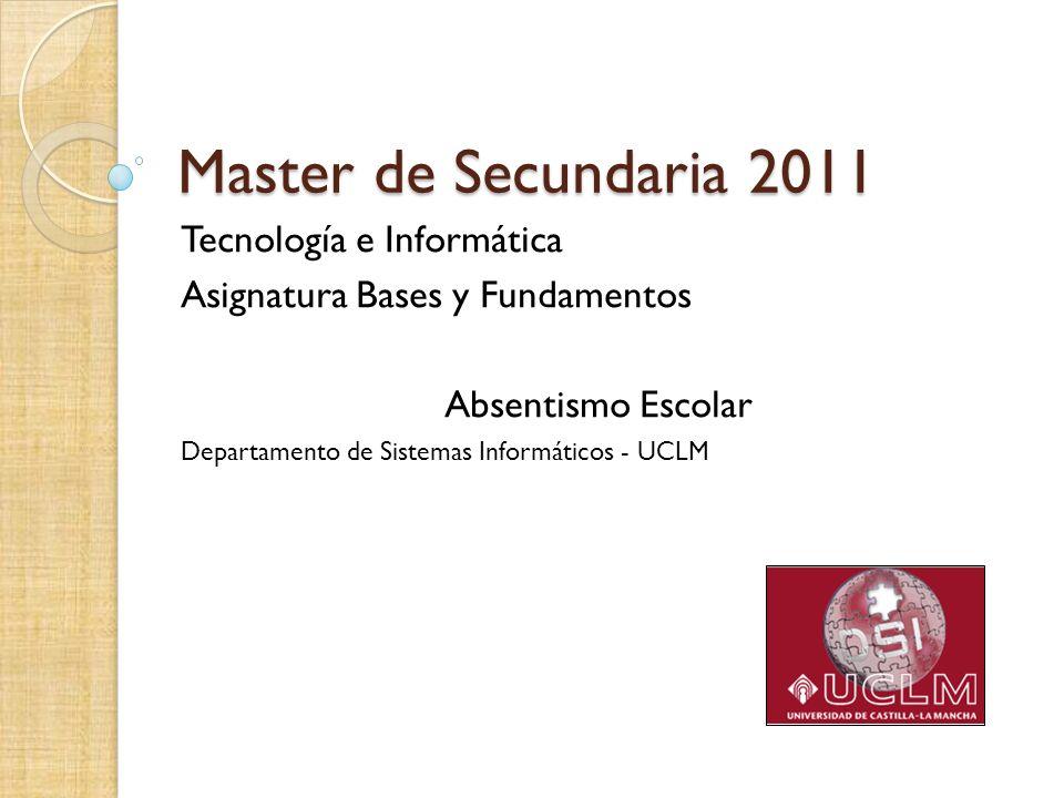 Master de Secundaria 2011 Tecnología e Informática