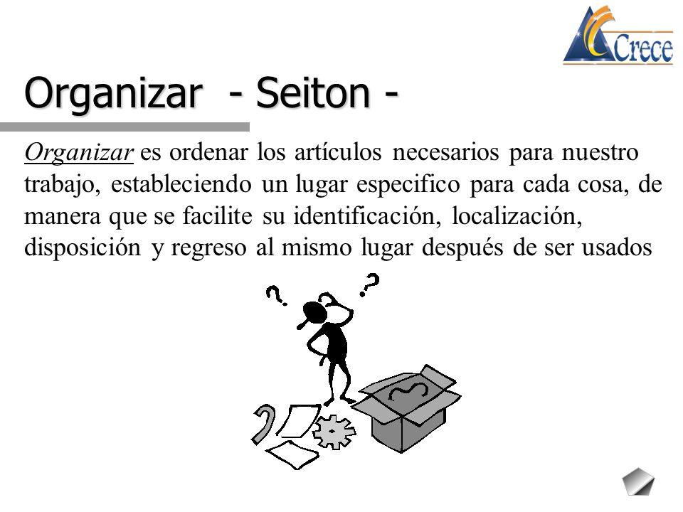 Organizar - Seiton -