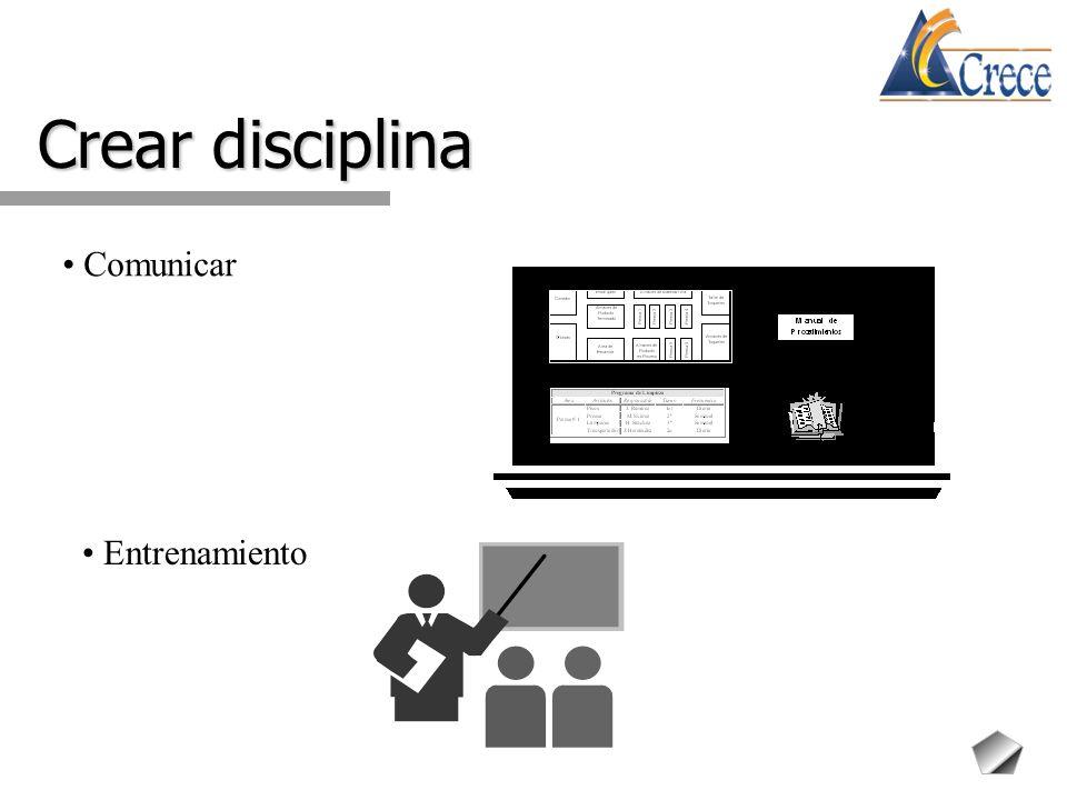 Crear disciplina Comunicar Entrenamiento
