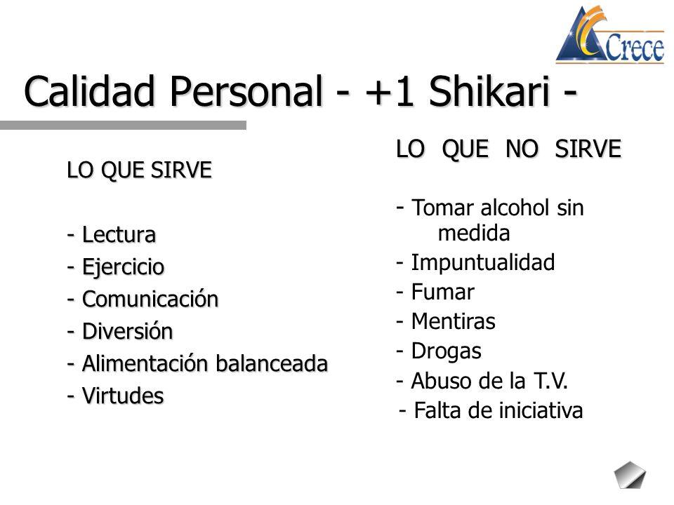 Calidad Personal - +1 Shikari -
