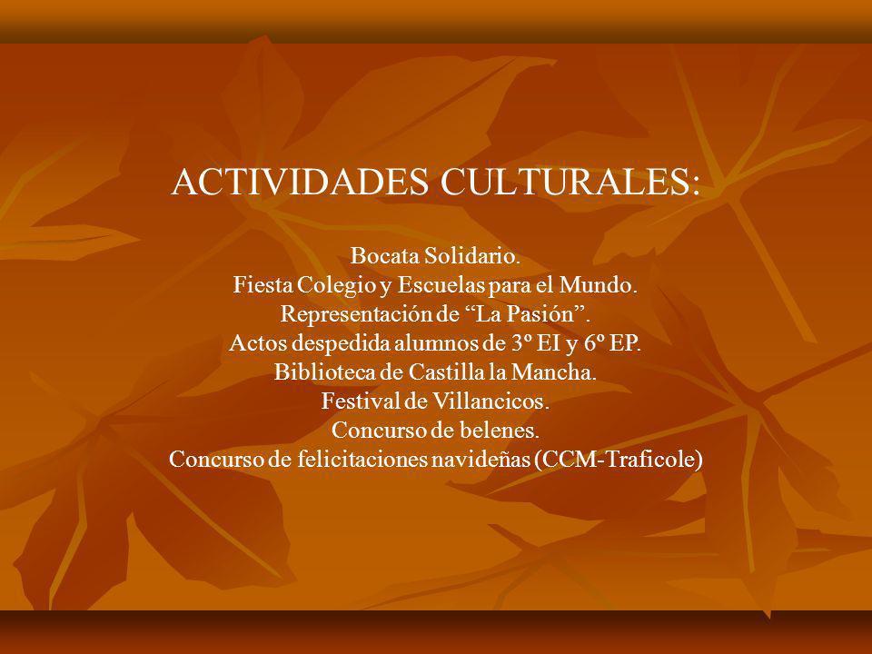 ACTIVIDADES CULTURALES: