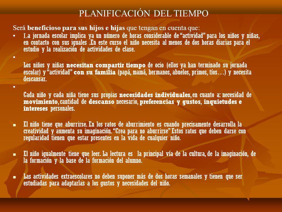 PLANIFICACIÓN DEL TIEMPO