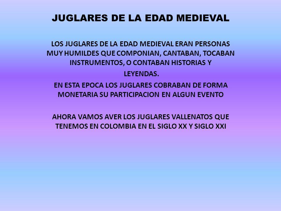 JUGLARES DE LA EDAD MEDIEVAL