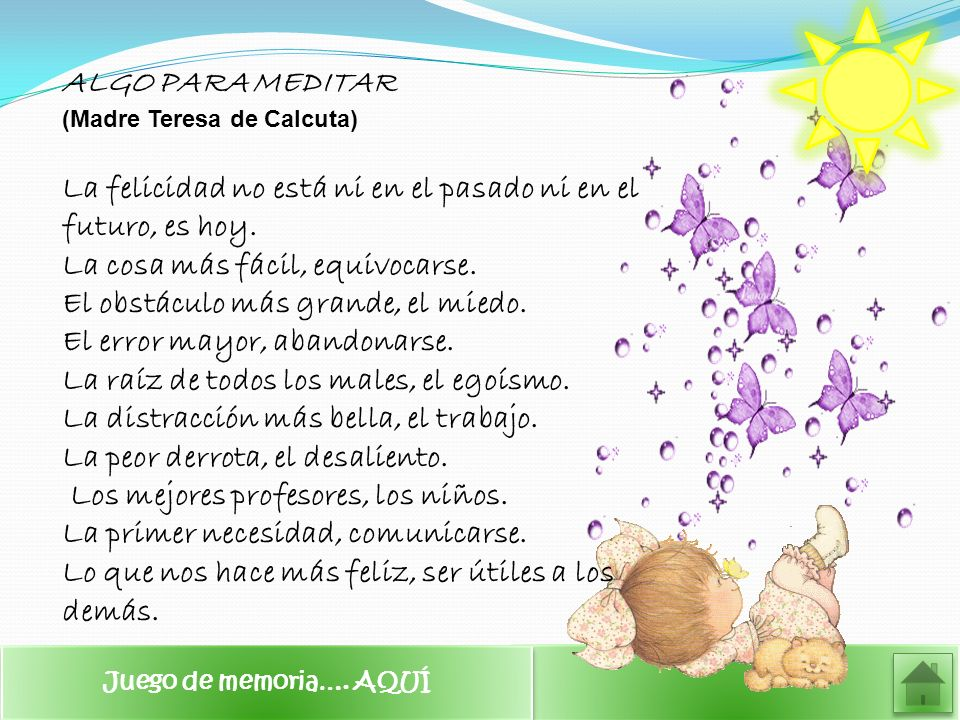 ALGO PARA MEDITAR (Madre Teresa de Calcuta)