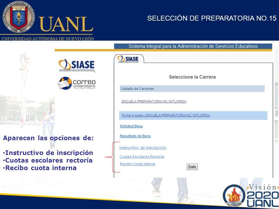 SELECCIÓN DE PREPARATORIA NO.15