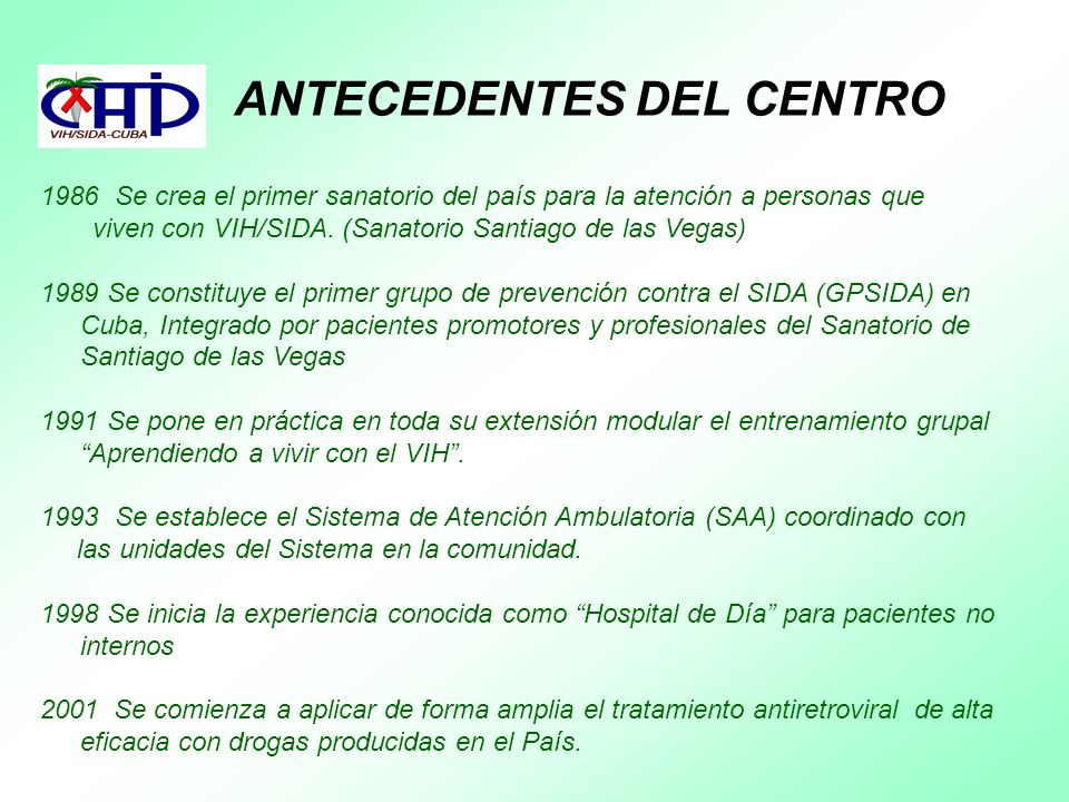ANTECEDENTES DEL CENTRO