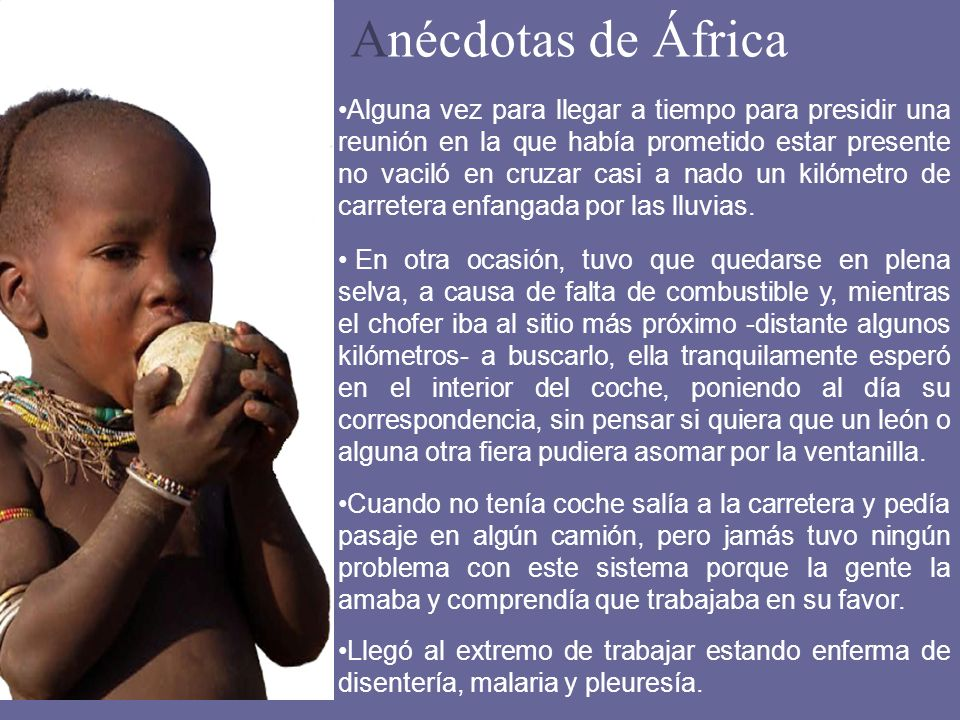 Anécdotas de África
