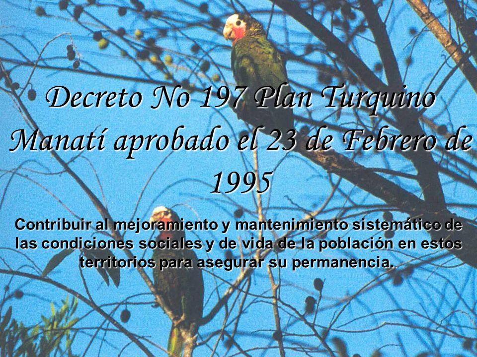 Decreto No 197 Plan Turquino Manatí aprobado el 23 de Febrero de 1995