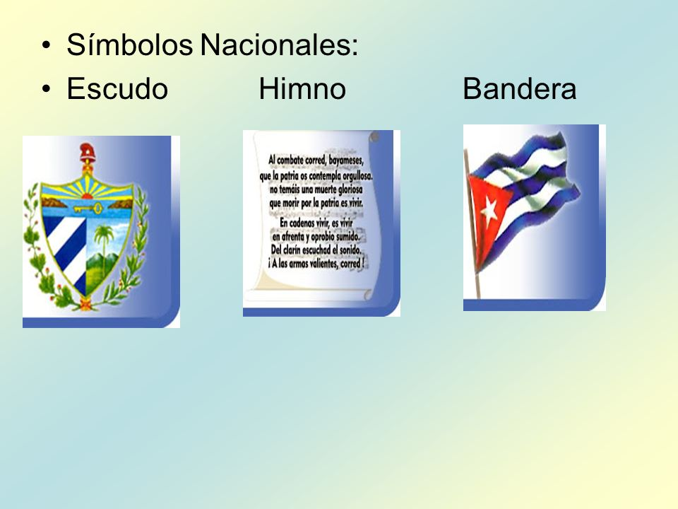 Símbolos Nacionales: Escudo Himno Bandera