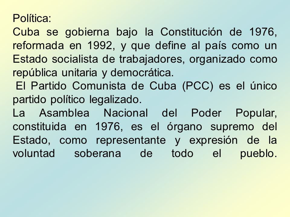 Política: