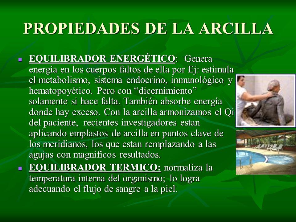 PROPIEDADES DE LA ARCILLA
