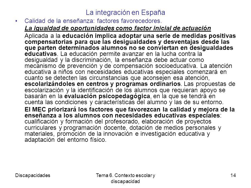 La integración en España