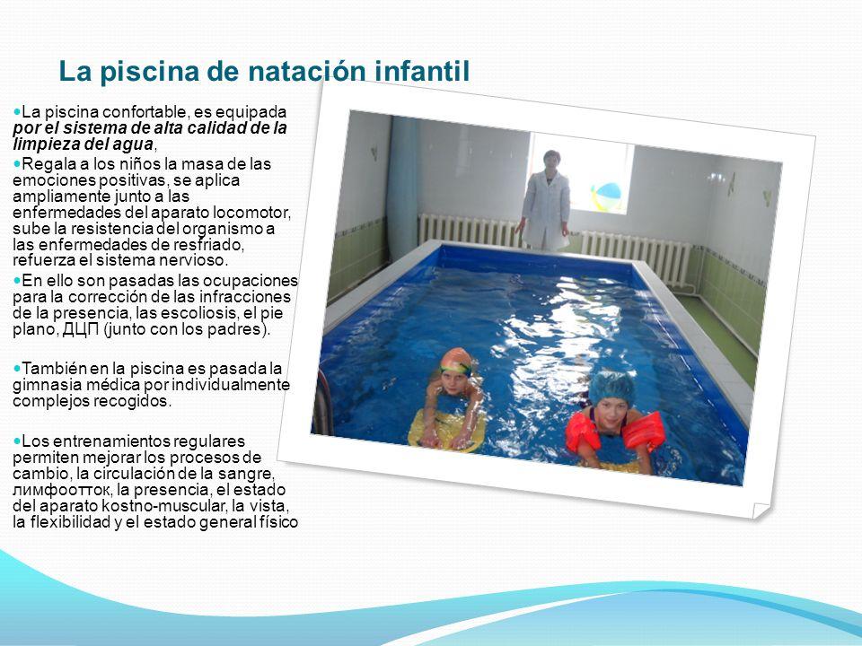 La piscina de natación infantil