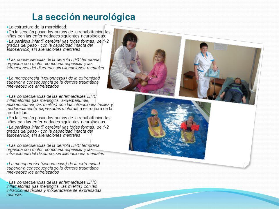 La sección neurológica