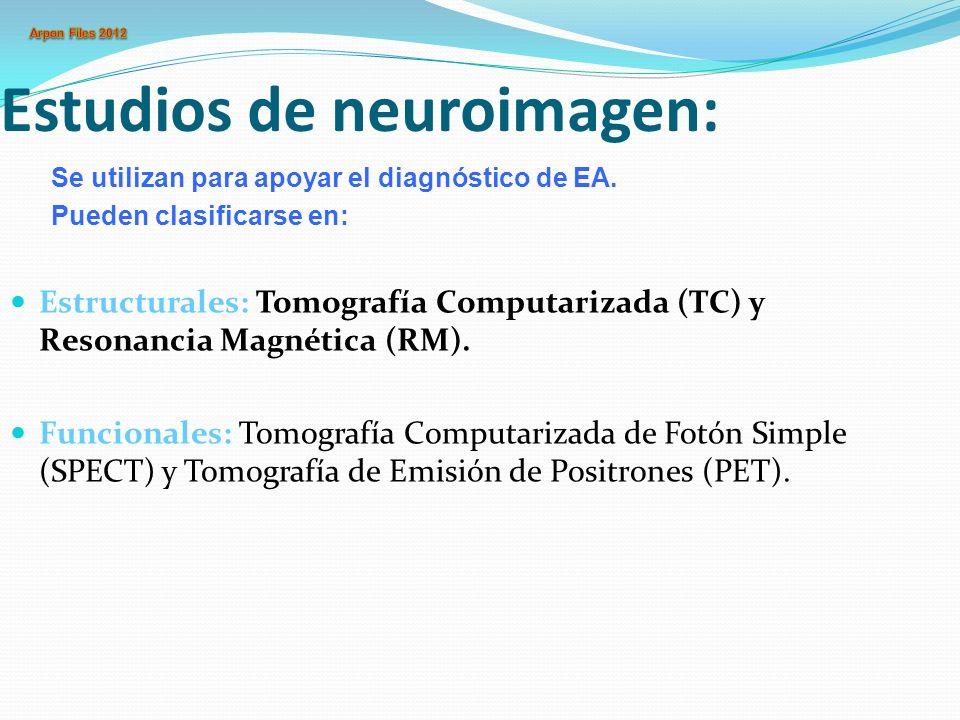 Estudios de neuroimagen: