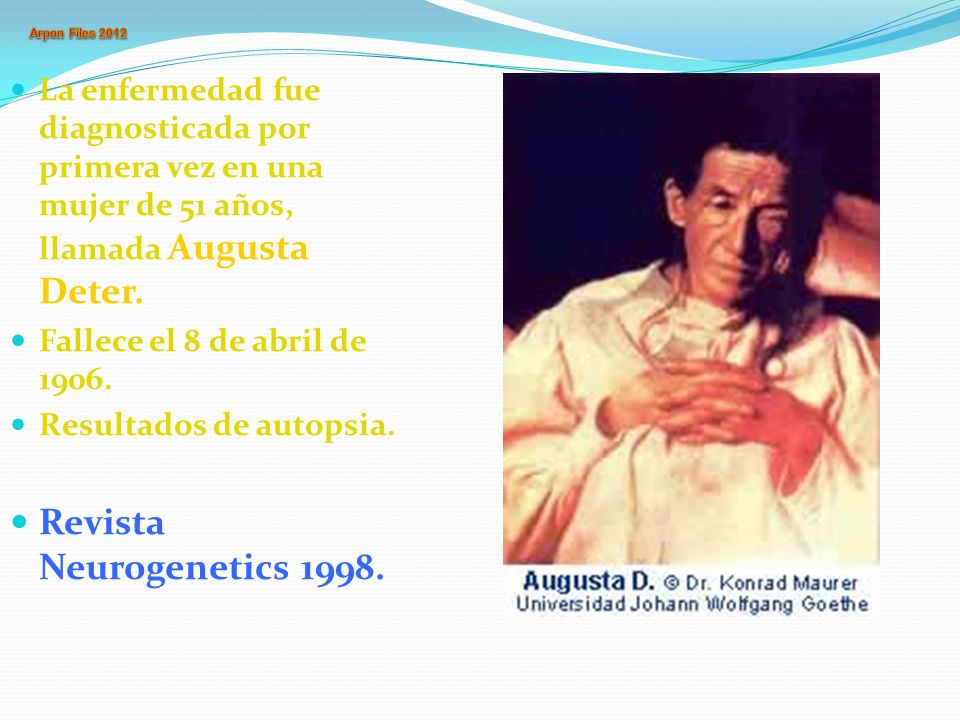 Revista Neurogenetics 1998.