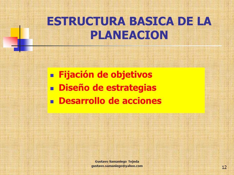 ESTRUCTURA BASICA DE LA PLANEACION