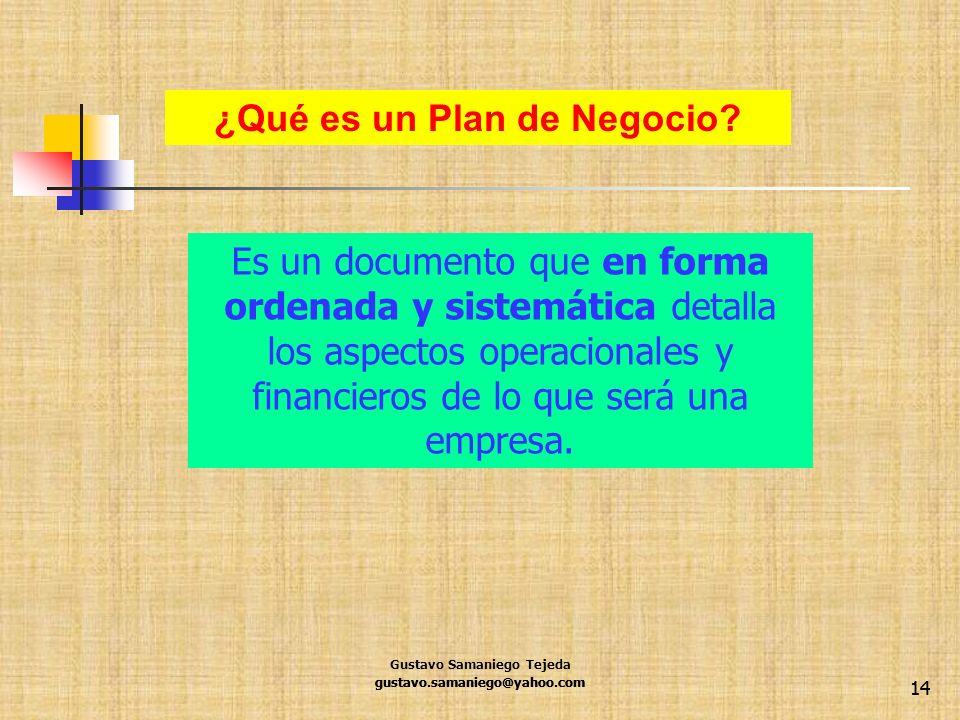 ¿Qué es un Plan de Negocio
