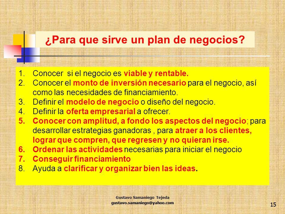 ¿Para que sirve un plan de negocios