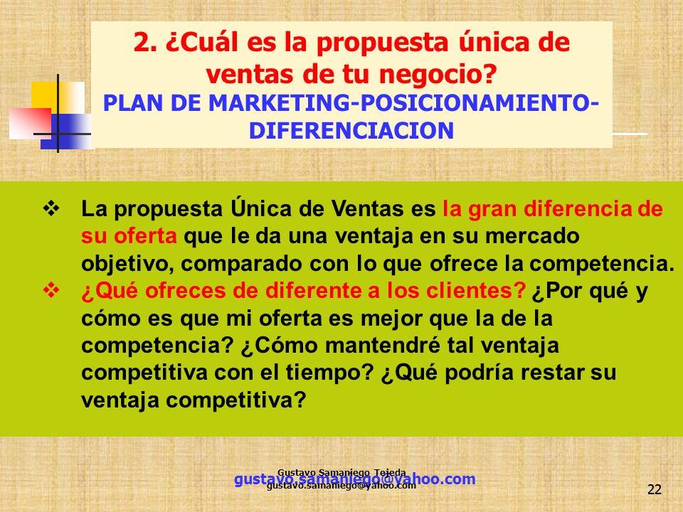 2. ¿Cuál es la propuesta única de ventas de tu negocio