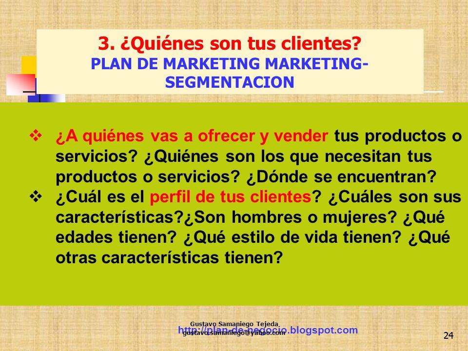 3. ¿Quiénes son tus clientes