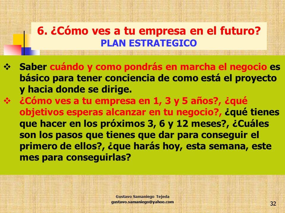 6. ¿Cómo ves a tu empresa en el futuro