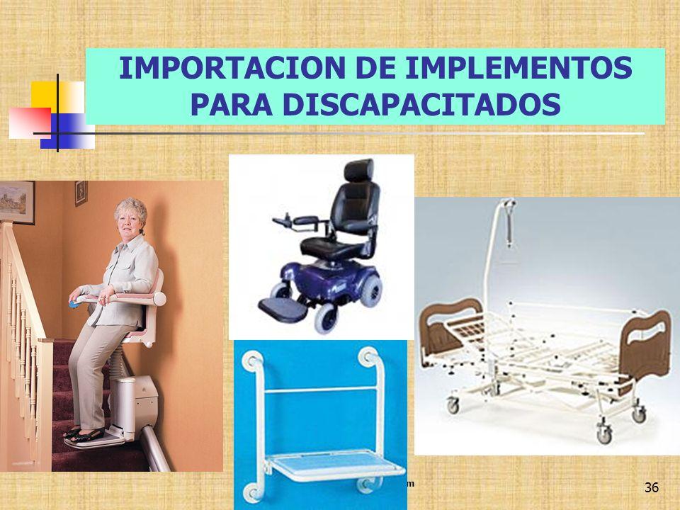 IMPORTACION DE IMPLEMENTOS PARA DISCAPACITADOS