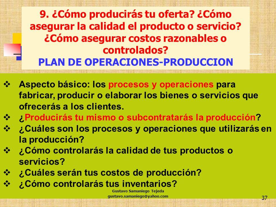 PLAN DE OPERACIONES-PRODUCCION