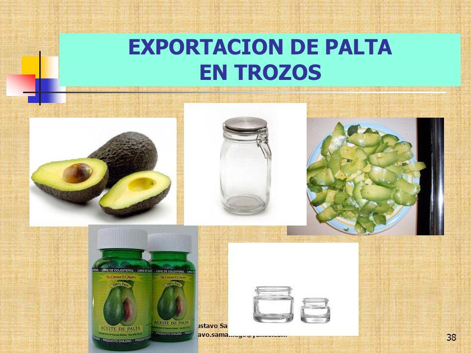 EXPORTACION DE PALTA EN TROZOS