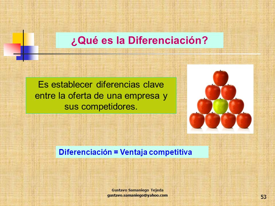¿Qué es la Diferenciación
