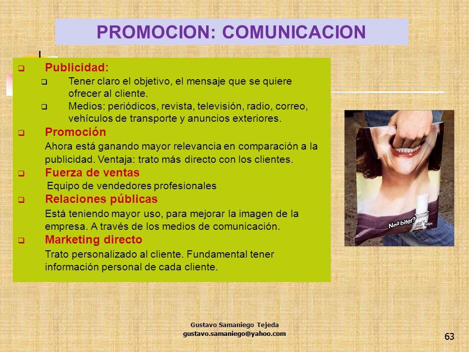 PROMOCION: COMUNICACION