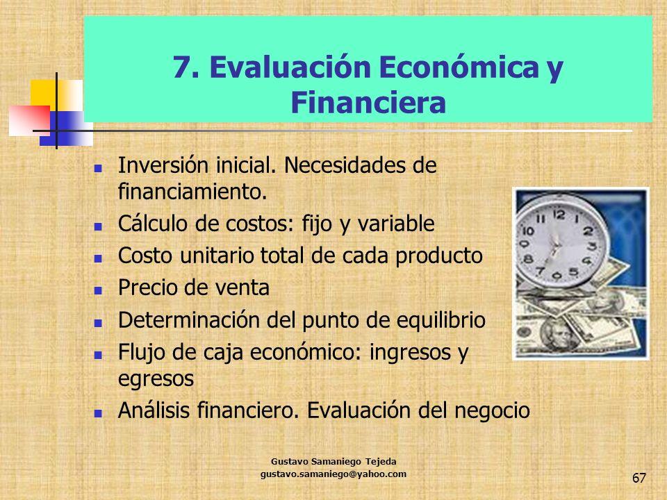 7. Evaluación Económica y Financiera