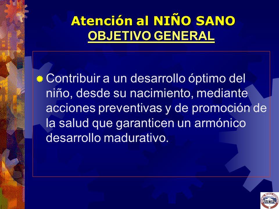 Atención al NIÑO SANO OBJETIVO GENERAL