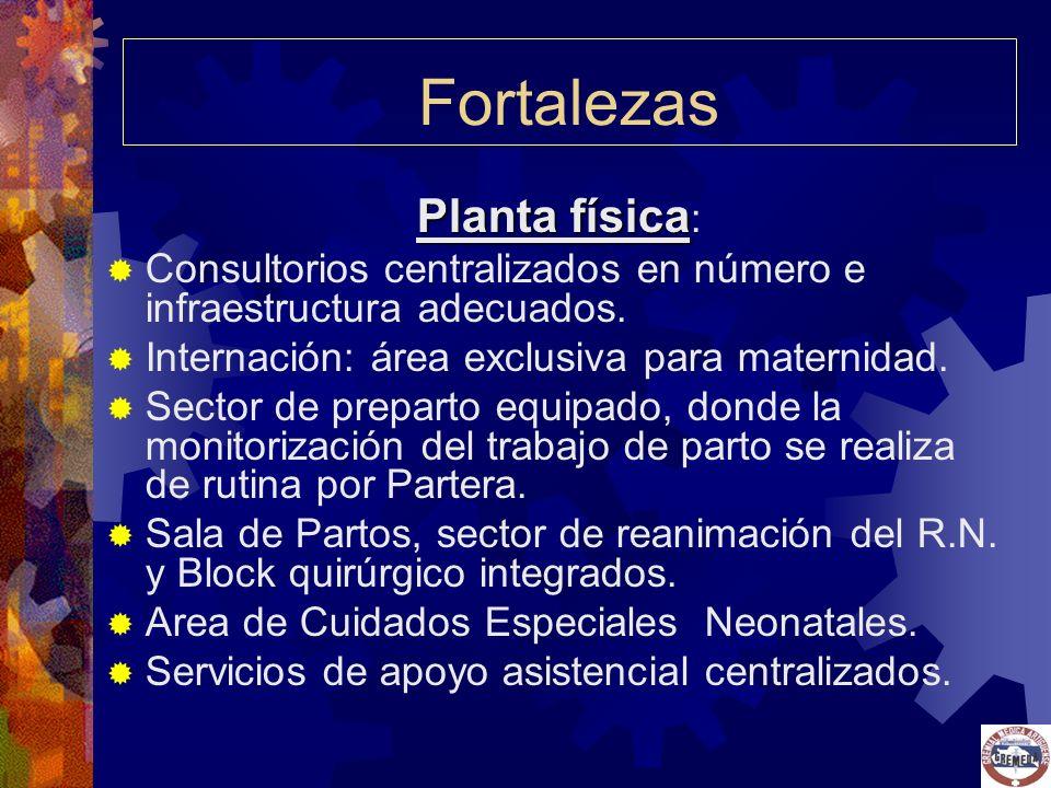 Fortalezas Planta física: